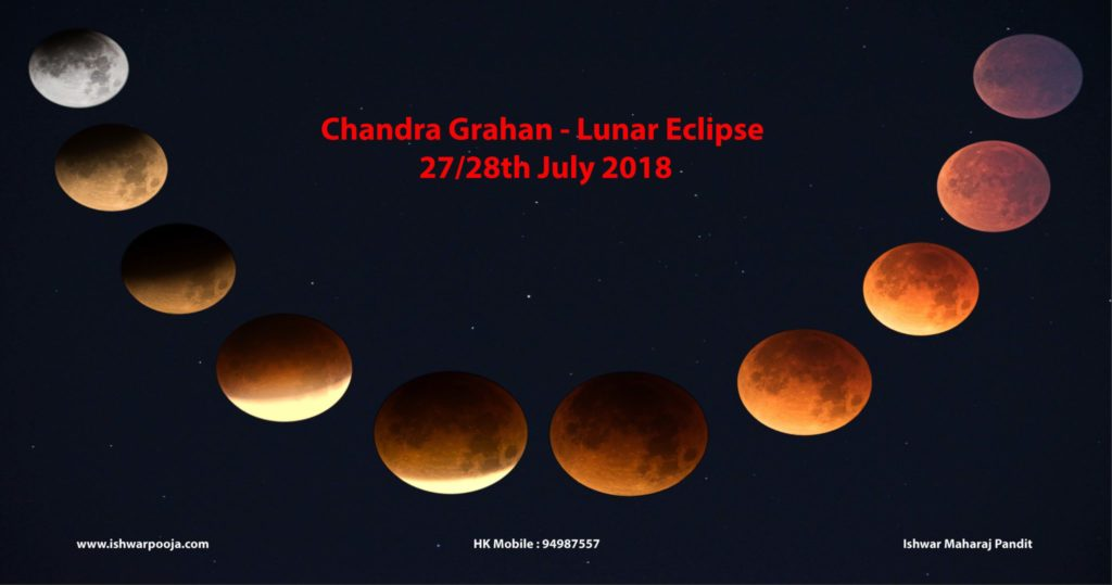 chandra grahan - lunar eclipse  27  28th july 2018